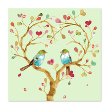 Two love birds parked in the tree Love  Draw on canvas Digital Painting Famous paintings Abstract painting Color guitar
