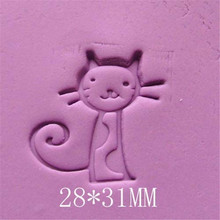 28*31mm Cute Cat Handmade Resin Soap Stamp Homemade Tools DIY Sugarcarft Candy Candle Making Kits