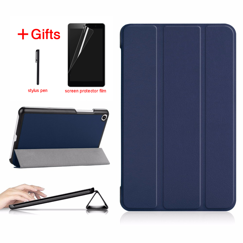 все цены на PU Leather Cover Case For Xiaomi Mi Pad 4 MiPad4 8 inch Tablet Protective Smart Case for xiaomi Mi Pad4 Mipad 4 8.0