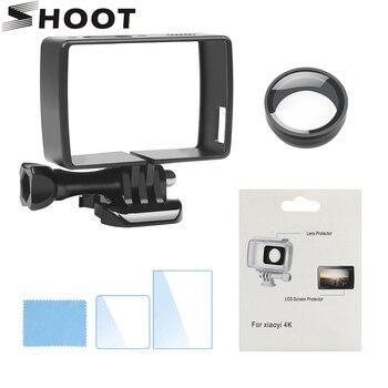 SHOOT for Xiaomi yi 4k Accessory Set Standard Protective Case Lens Protector Ultra UV Filter for Xiaomi Yi Lite 4K Xiaoyi 2 Cam цена 2017
