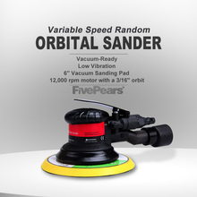 Pneumatic Tools Orbital Sander Variable Speed Machine 5Inch 125MM Pad 1/4Inch Air Inlet Can Handle A Large Workload FIVEPEARS