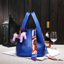 New Small Casual Bucket Bags Togo Litchi Genuine Leather Handbags For Women Famous Brand Designer Tote Bags Composite Bag Female