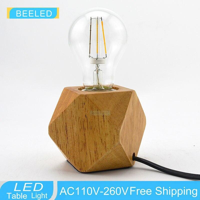 aliexpress koop vintage hout tafellamp eikenhout licht