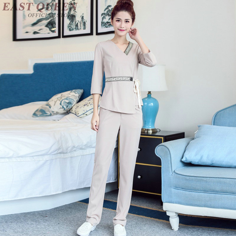 Beauty Salon Thai Massage Uniform Clinical Beautician Uniforms Woman Female Clothing DD1356