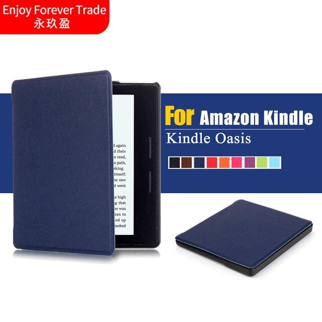 Us 7 8 Ultra Slim Livre Housse En Cuir De Protection Shell Peau Pour Amazon Kindle Oasis 6 Ebook Lecteur Veille In Tablets E Books Case From
