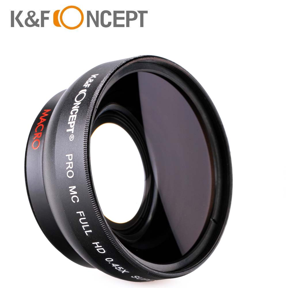 K F CONCEPT 52MM 0 45X HD Wide Angle Camera Lens Multi coated For Canon 600D