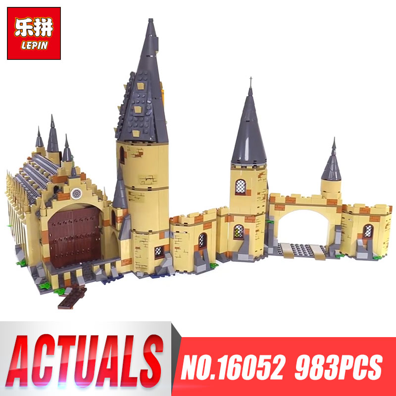 Lepin 16052 Harry Movie Potter legoings 75954 Hogwarts Great Wall Set Building Blocks Harry New Potter Kids Toys Christmas Gifts personalized harry potter hogwarts school badge wax seal stamp w wax set new