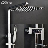 Гиша Ванная комната душа Установить ванна смесители душ смеситель для ванны краны водопад Насадки для душа смеситель стены G5002