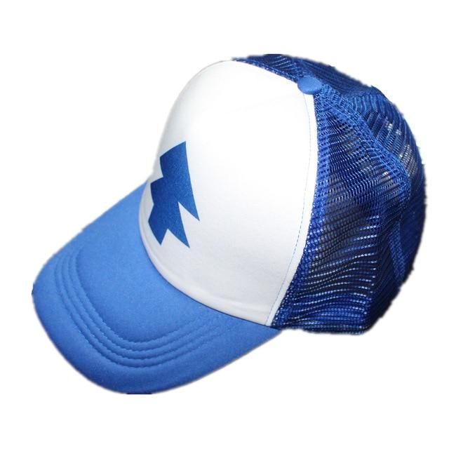 e07c25b83d0e6 Boy Girls hats BLUE PINE TREE Trucker snapback Caps Cartoon New Curved Bill  Dipper children Gravity Falls Trucker Cap kids
