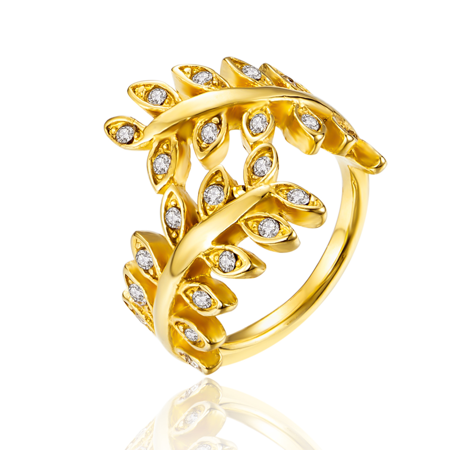 Rious Brand Cute Style Olive Branch Design Fashion Ring For Girls ...