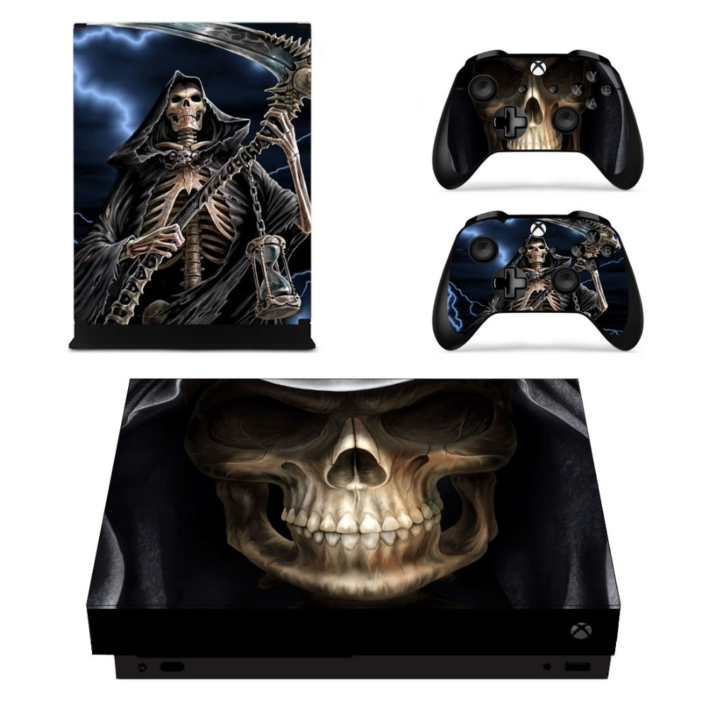 X0059 Game accessories Skin Sticker for Microsoft Xbox One X Console and 2 Controllers skins Stickers for XBOXONE X Enhanced