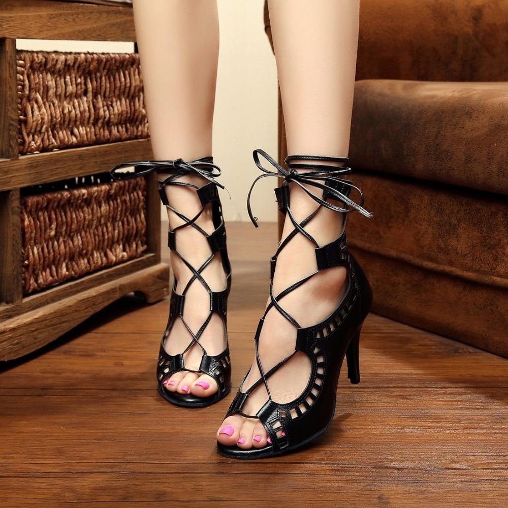 Woman Ballroom Latin Dance Shoes Salsa Sandals Female Samba Tango Modern Part Dance Shoes High Heel 7.5/8.5/10cm 1673 shoes woman latin shoes high heel 6 cm adult female latin dance shoes modern ballroom dancing h2112 t15 0 5