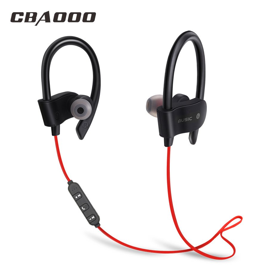 CBAOOO bluetooth earphone wireless bluetooth headphone sport headset waterproof bass with mic for android iPhone цена