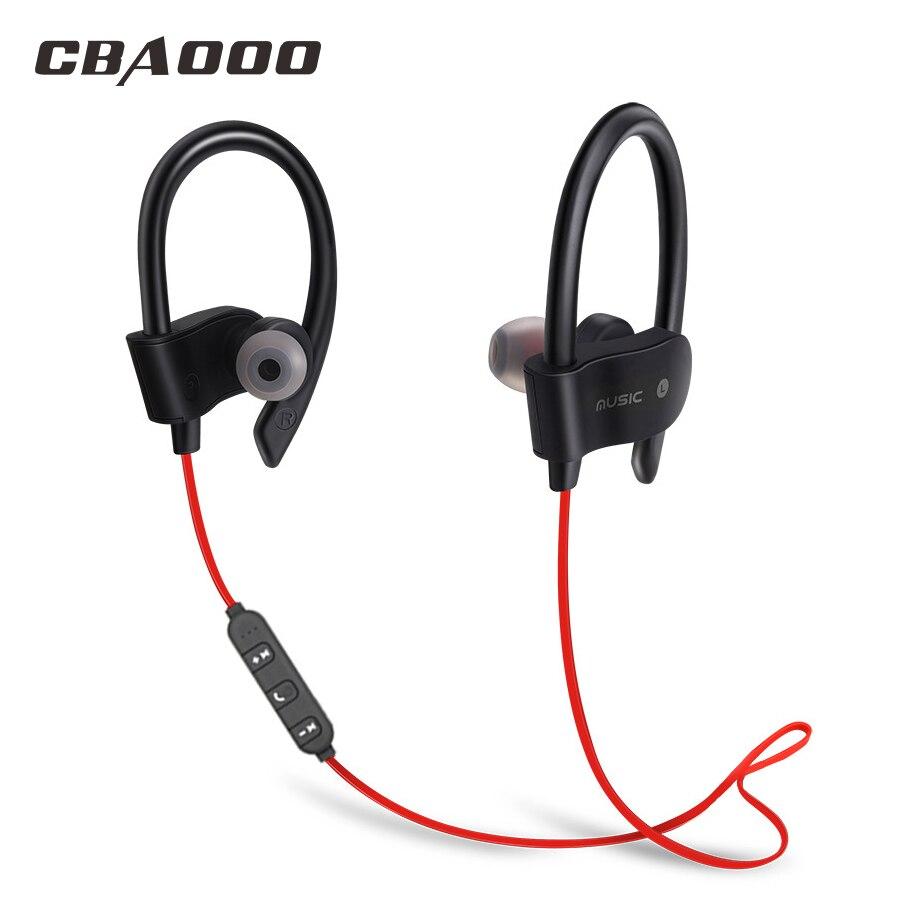 CBAOOO bluetooth trasduttore auricolare senza fili di bluetooth di sport della cuffia auricolare impermeabile bass con il mic per android iPhone