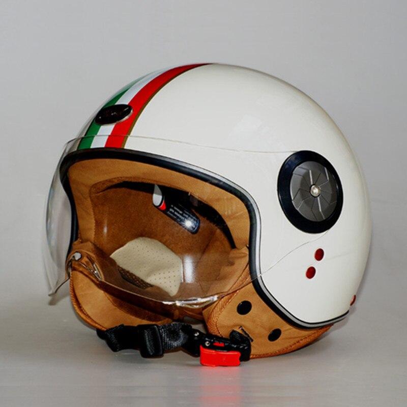 BEON Brand Motorcycle 3//4 Half Face Helmet Scooter Vintage Retro Racing Helmets