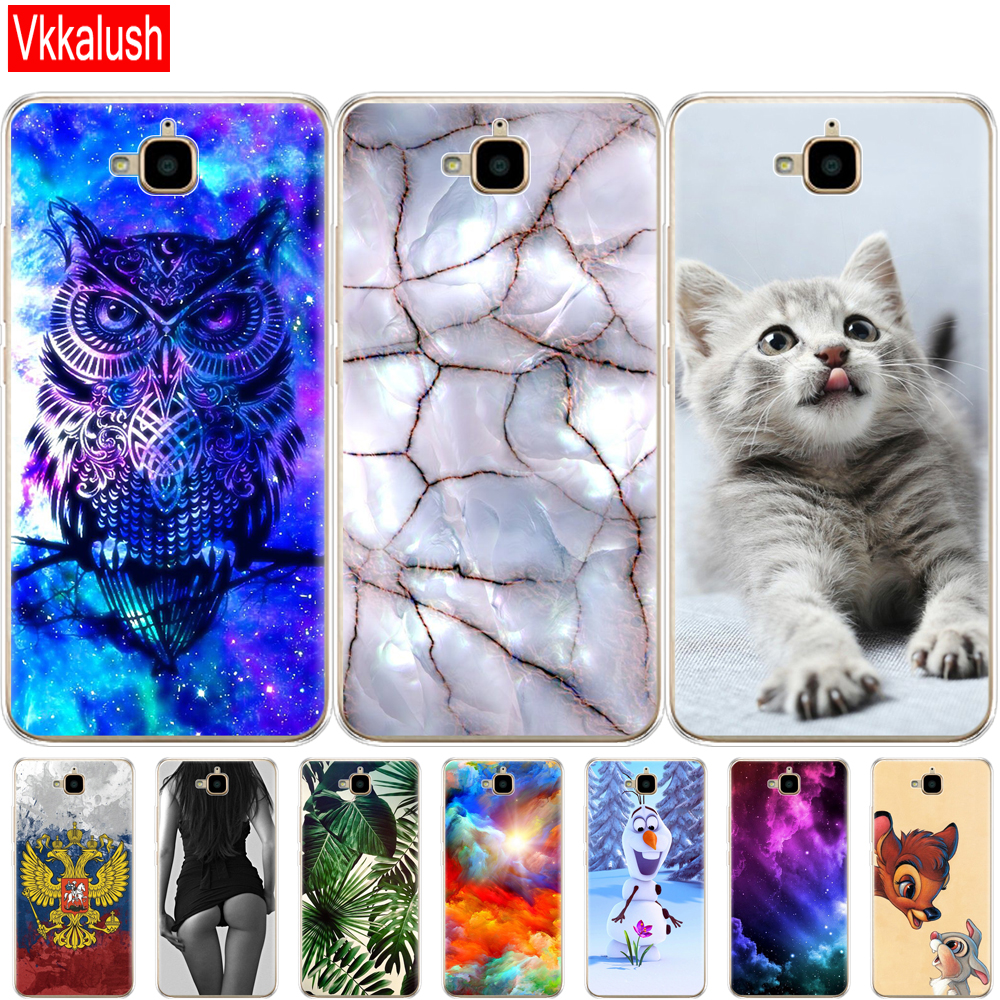 Soft Phone Shell For Huawei Honor 4C Pro Case Cover Silicon Back Case For Huawei Y6 Pro 2015 Case TIT-L01 TIT-TL00 Phone