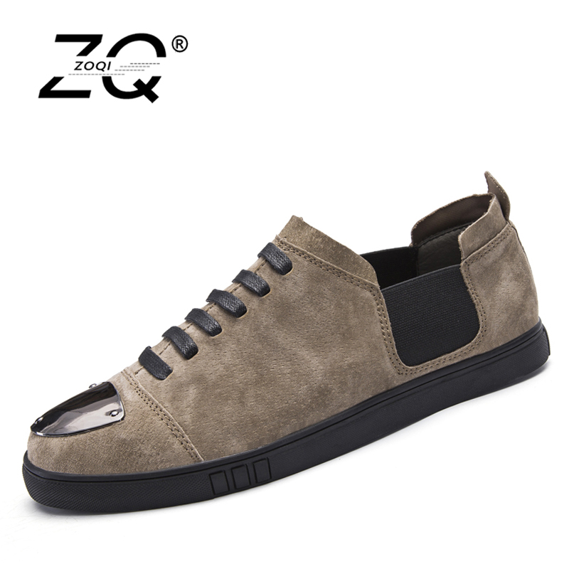 ZOQI Fashion Men Shoes Summer Cool Lace Up Genuine Leather Shoes Men's Flats Shoes Low Mens casual Oxford Shoe for Men zdrd new fashion genuine leather men business casual shoes british low top lace up suede leather mens shoes brown red men shoes