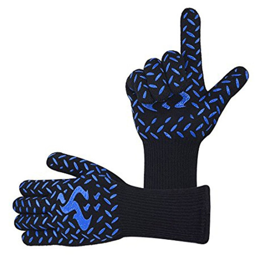 High Temperature Anti-skid Wear-resistant Cotton Gloves For BBQ Microwave Oven 2018 NEW Arrival Drop shipping high quality anti skid wear resistant cotton gloves 800 degree fire insulation flame retardant glove suit for bbq microwave oven