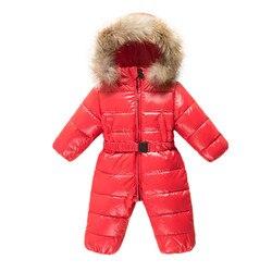 2019 monos de niña, ropa de bebé recién nacido chaquetas de invierno ropa de bebé traje de nieve espesar hacia abajo prendas de abrigo y abrigos