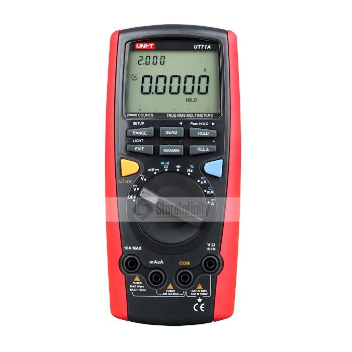 UNI-T UT71A multimètre Intelligent LCD 19999 affichage numérique AC + DC tension de courant Interface USB vraie gamme automatique RMS REL