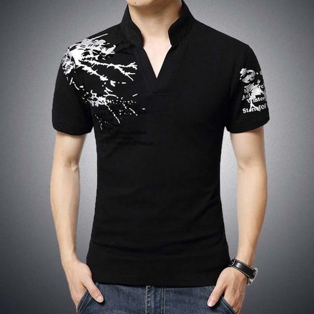2016 New Fashion Polo Shirt Men Summer Short Letters Printed Sleeve Turn-down Collar PoloRalph Men Casual Camisa TeeShirts