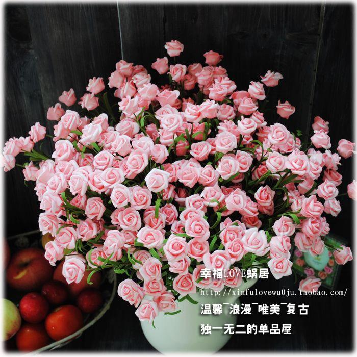 French European American country Vintage Rose 10 head rose floor ...