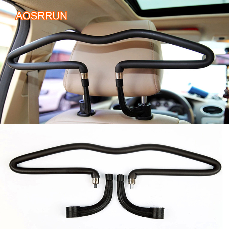 Stainless Steel Car Clothes Rack Car Seat Back PU Clothes