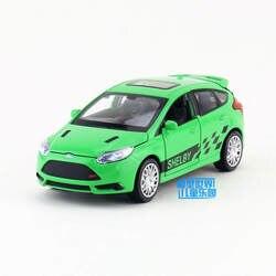 1:32 Весы/литья под давлением Металл Модель/Ford Focus ST внедорожник игрушка/звук и свет/для детей подарок/образовательный Коллекция/тянуть назад