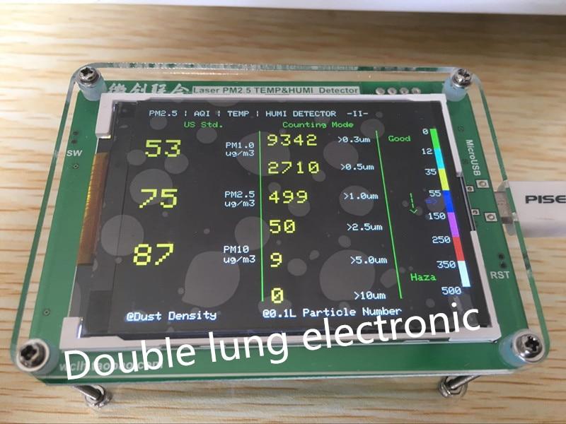 Household PM2 5 M5 version detector air quality monitoring PM2 5 dust haze measuring sensor TFT