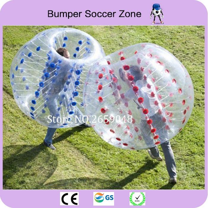 Bola inflable de Zorb del fútbol del fútbol de la burbuja del PVC del 1.5m para la diversión al aire libre de la bola de parachoques de la bola inflable humana del hámster humano