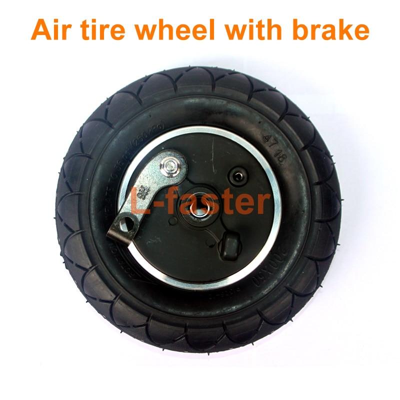 8 Inch Wheel With Drum Brake 8 Pneumatic Wheel With Expansion Brake Electric Scooter Brake Aluminium