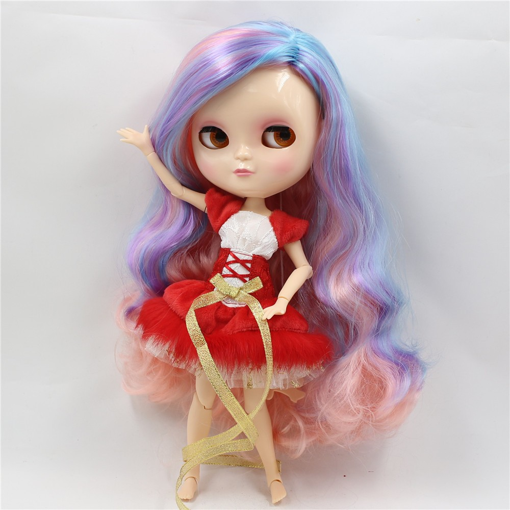 Neo Blythe Doll with Multi-Color Hair, White Skin, Shiny Face & Jointed Azone Body 4