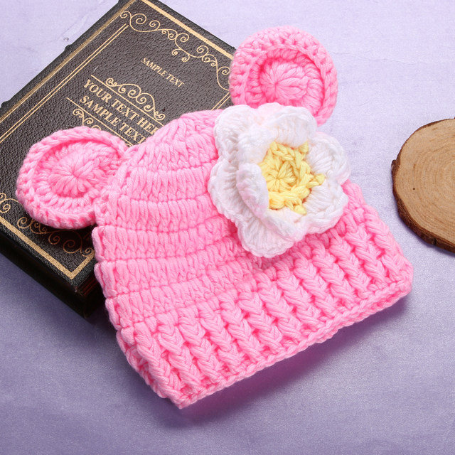 Online Shop Cute Knitted Newborn Baby Photo Photography Props Hat