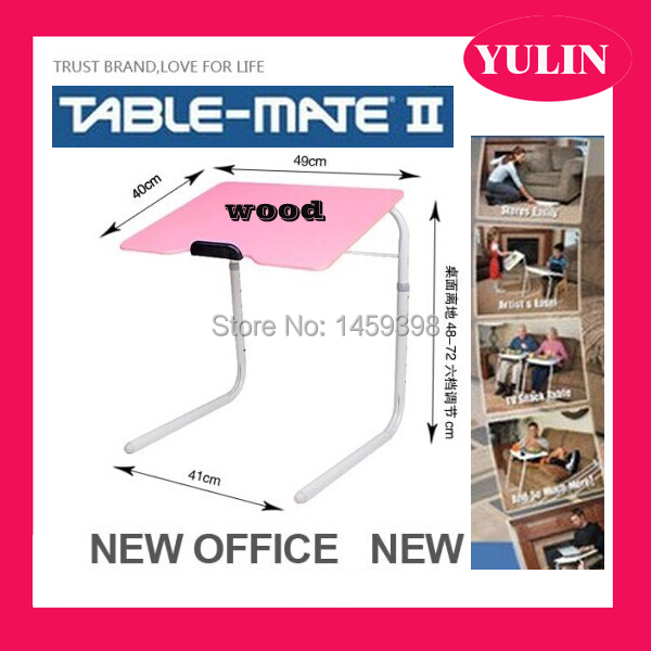 Exceptionnel Wood Material PINK COLOR Portable Table Mate Bed Mate Table Tray Folding  Table For Bed Snacks Leisure Computer Table In Computer Desks From  Furniture On ...