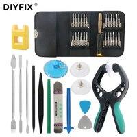 DIYFIX 38 In 1 Mobile Phone Screen Opening Pliers Repair Tools Kit Screwdriver Pry Disassemble Tool