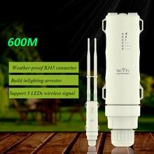 Wi fi Repetidor ao ar livre AC600 Amplificador Router AP Extensor Wi Fi À Prova de Intempéries Com 2.4G + 5GHz Antenas de Alto Ganho