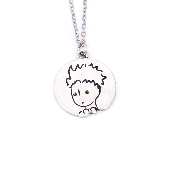 hzew new Arrival little prince necklace with fox under the moon Gift for Her Reader Book Lover Gift