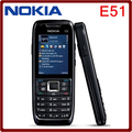 Unlocked Original Nokia E51 WIFI Bluetooth JAVA Refurbished Mobile Phone Support Russian Arabic keyboard Free Shipping