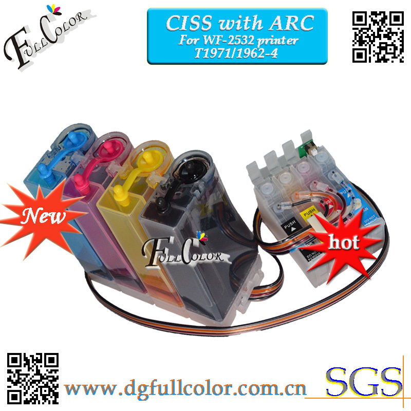 For In WF2532 ciss Ink System With ARC CHIP for xp-401 Printer ciss T1971 T1962 T1963 T1964 Ink Cartridge 100pc ciss ink tuber sticker for diy ciss kits system wholesale