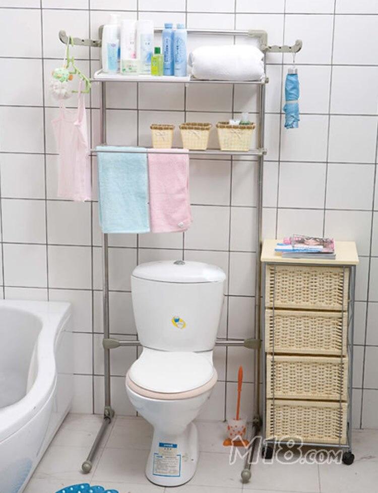 Bathroom Shelf Stainless Steel Washing Machine Rack Toilet Frame Bathroom  Toilet Shelf 0053