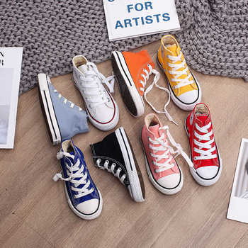 Spring Autumn High Top Sneakers Girl Child Shoes 13 Colors Toddler Boy Baby Kids Canvas Star For - discount item  35% OFF Children's Shoes