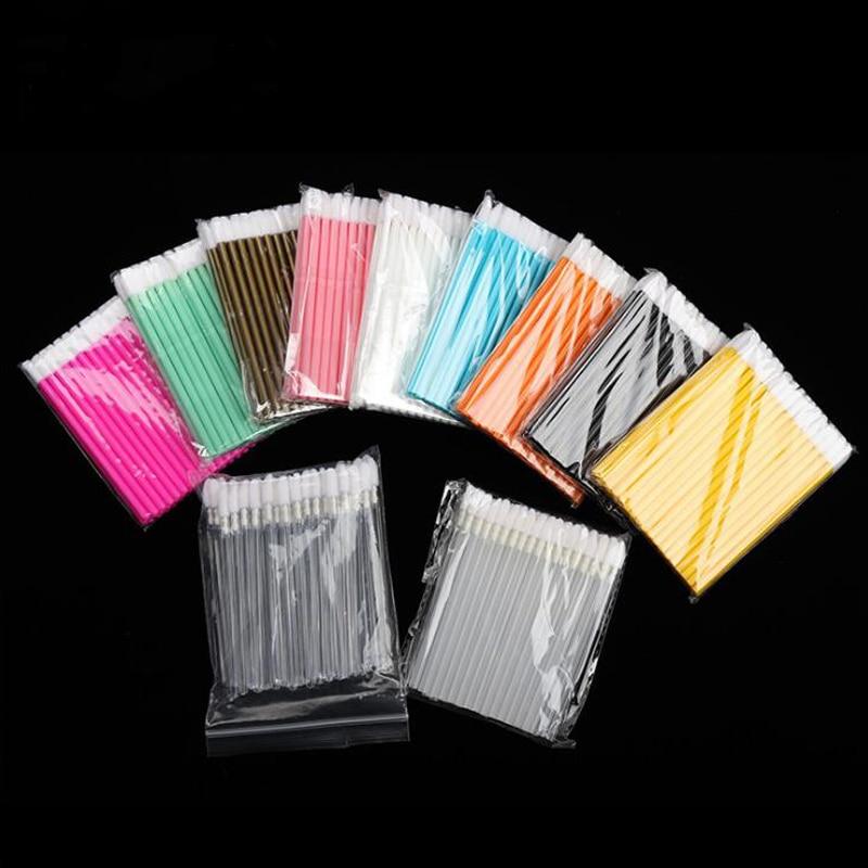 50 pièces brosse à lèvres jetable rouge à lèvres brillant à lèvres nettoyant applicateur fard à paupières plus dodu pinceaux de maquillage outils