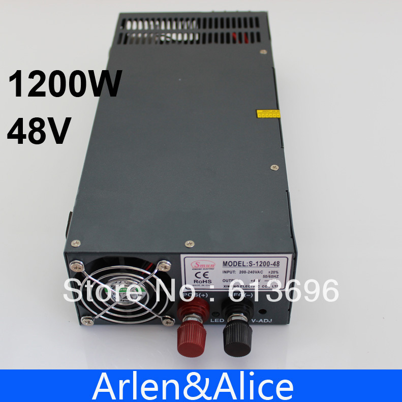 1200W 48V 25A adjustable 110V input Single Output Switching power supply for LED Strip light AC to DC
