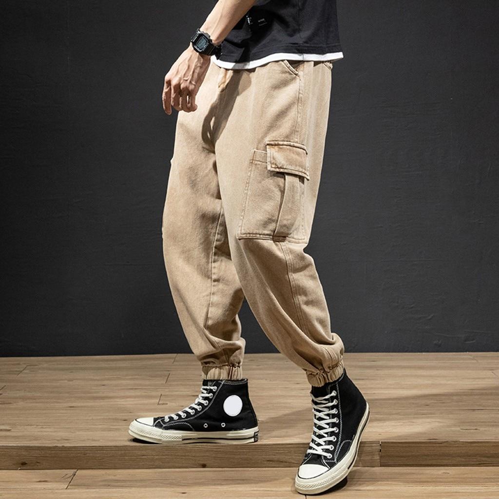 Moda Estilo Hombres Pantalones Hombre Nuevo Estilo Moda Overoles Casual Puro Color Comodo Pantalones Jogger Pantalon Para Hombres Pantalones Informales Aliexpress