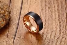 Высокое качество модное Черное и розовое золото Вольфрамовая