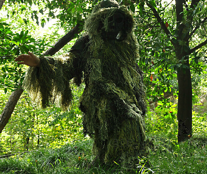 3D Grass Type Camouflage Ghillie Suit YOWIE SNIPER Forest Camo Suit For Hunting Paintball Ghillie Suit CA for Outdoor Camping 5 pieces new ghillie suit camo woodland camouflage forest hunting 3d