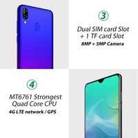 "cell phone screen Blackview A60 Pro Smartphone Mobile Phone 6.088"" Waterdrop Screen 4G LTE 4080mAh Android 9.0 3GB RAM Dual Rear Camera Cell Phone (5)"