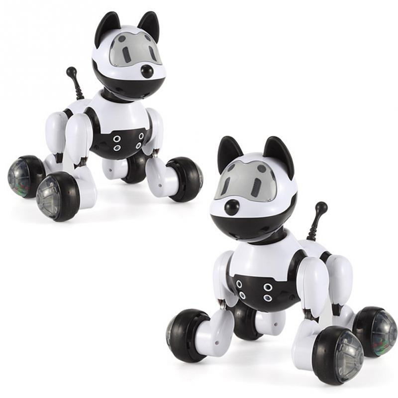 Kids Gift RC Walking Dog cat 2.4G Wireless Remote Control Smart Dog cat Electronic Pet Educational Childrens Toy Robot Dog cat