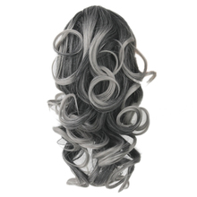 Soowee Curly Synthetic Hair Brown Ombre Claw Ponytail Clip In Hair Extensions Little Pony Tail Hair on Hairpins Fairy Tail