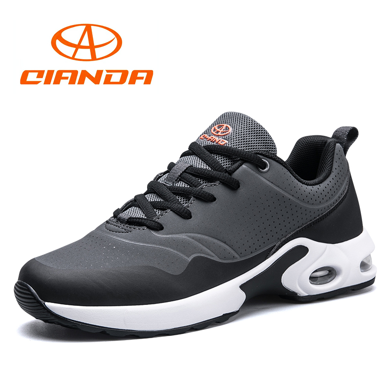 QIANDA New Arrival Men AIR Running Shoes Spring and Autumn Breathable PU Leather Man Sneakers Shock Sport Outdoor Walk Shoes
